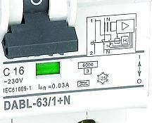 dabl-63 1p+n RCBO
