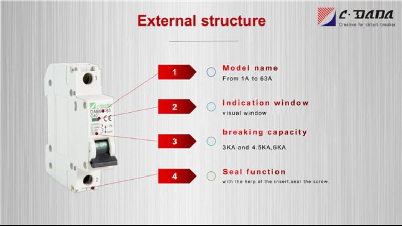 DAB6 series Miniature Circuit breaker(MCB)2316