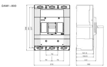 DAM1-800 TAMA adjustable MCCB moulded case circuit breaker