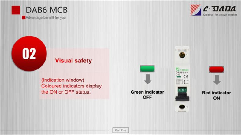 DAB6 series Miniature Circuit breaker(MCB)2322