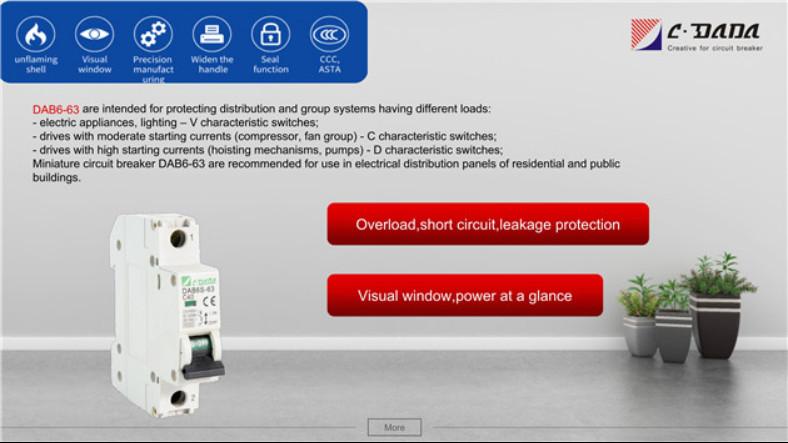 DAB6 series Miniature Circuit breaker(MCB)2310